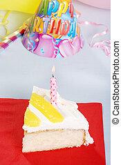 citron, gâteau, vue, anniversaire, sommet