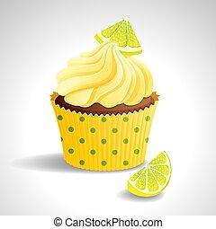 citron, petit gâteau