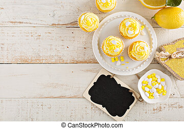 citron, petits gâteaux, paques