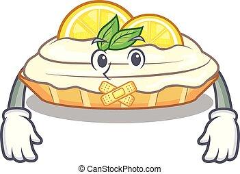 citron, silencieux, sucre, délicieux, fait maison, gâteau, mascotte