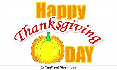 citrouille, thanksgiving, heureux