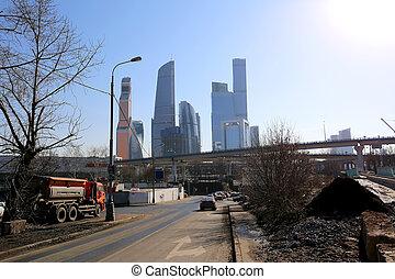 (city), centre, business, moscou, international, russie, gratte-ciel