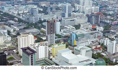 city., sommet, asiatique, vue