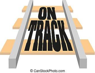 city., tie., elements., infrastructure., piste, rails., moderne, chemins fer, transport, ferroviaire, chemin fer