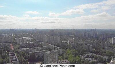 cityscape, brume