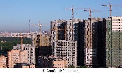 cityscape, construction, habitation, site, fond