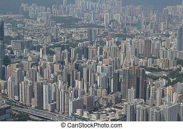 cityscape, hong, côté, kowloon, kong