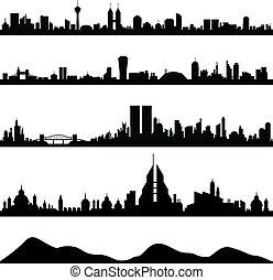 cityscape, horizon ville, vecteur