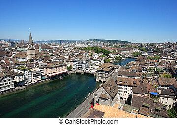 cityscape, zurich, suisse