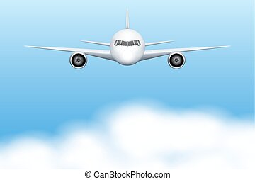 civil, avion, avion
