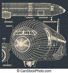 civil, avion, dessins