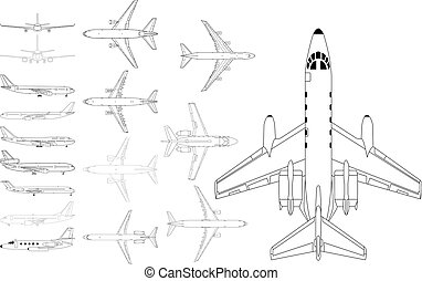civil, avion, meute