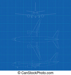 civil, avion, moderne