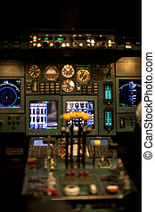 civil, avion, tableau bord