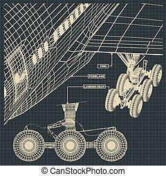 civil, fragments, avion, dessins