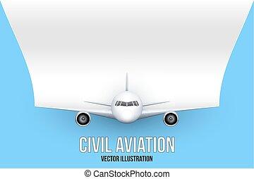 civil, texte, avion, espace