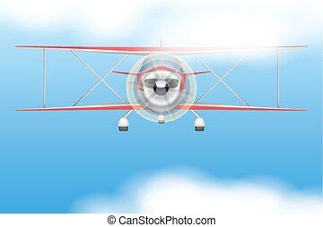 civil, vendange, avion, lumière