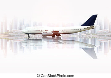 civil, ville, avion