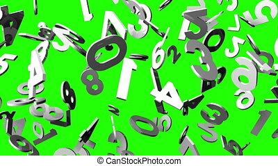 clã©, blanc, chroma, vert, nombres