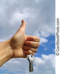 clés, -, bonheur