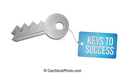 clés, conception, reussite, illustration