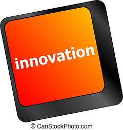 clés, informatique, mot, innovation, clavier