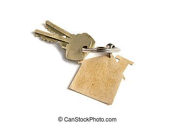 clés, maison, nouveau