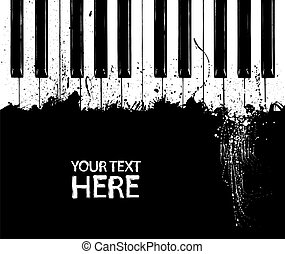 clés, piano, sale