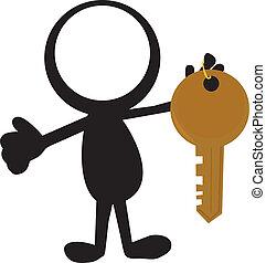 clés, stickman