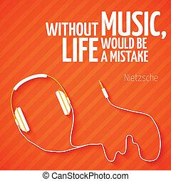 clair, écouteurs, musique, papier peint, fond