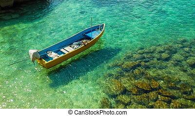 clair, bateau, mer