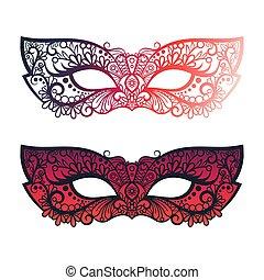 clair, carnaval, masques, fête