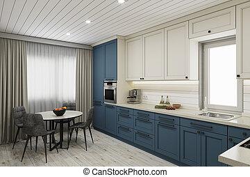 clair, cuisine, interior.