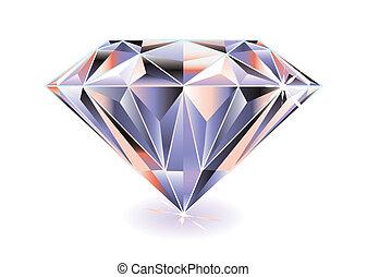 clair, diamant
