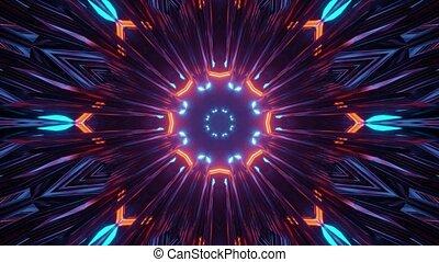 clair, dynamique, lumière, illustration, 3d, coloré, tunnel
