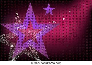 clair, fond, étoiles, disco