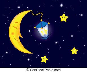 clair lune, nuit