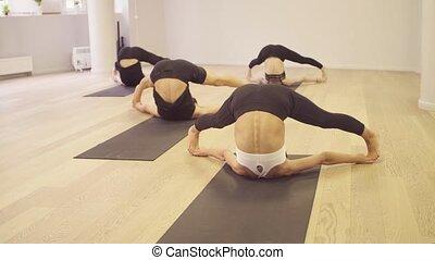 class., angle, yoga, reposer, pose