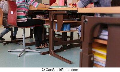 classe, école, bureaux