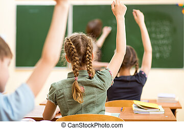 classe, eduquer leçon, enfants