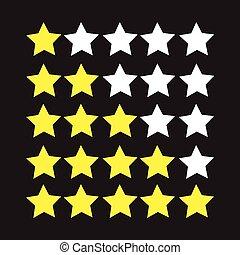 classement, étoiles, icône