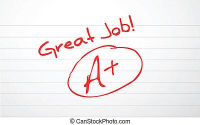 classement, travail papier, bon, rouges, encre