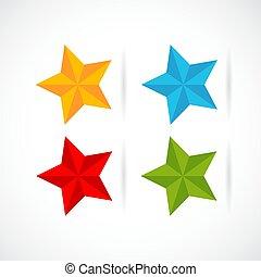 classement, vecteur, étoile, icône