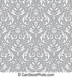 classique, modèle, papier peint, -, seamless, floral