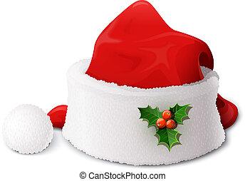 claus, chapeau, santa