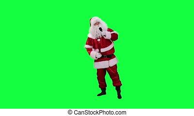 claus, microphone, santa