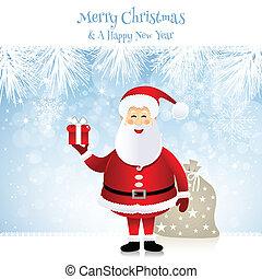 claus, -, santa, illustration