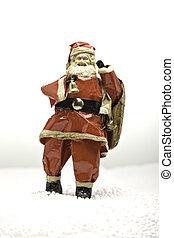 clause, neige, santa
