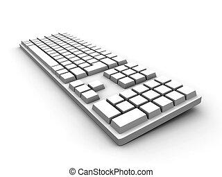 clavier, -, blanc