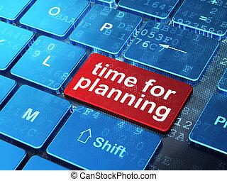 clavier ordinateur, planification, fond, temps, concept: